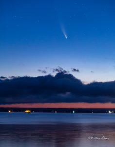 86Neowise comet over Oneida Lake William Shoop  Madison County
