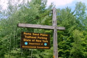 Rome Sand Plains Sign