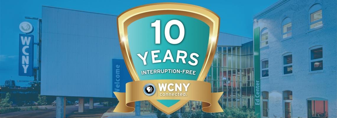 10 year web banner