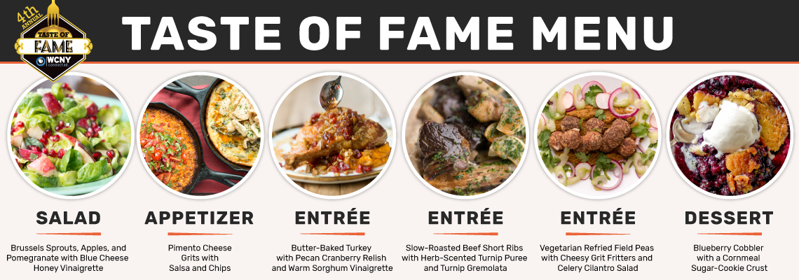 Taste of Fame 2018 with Chef Vivian Howard Menu Items