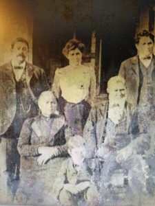 "2Coyne Lydon family in MarcellusRobert SteingraberOnondaga County This is my 2nd great grandparents Tadgh ""Tady"" Coyne and wife Catherine Lydon (back row left and center). Next to them on right is one of their sons, Michael, who was an alderman in Syracuse for years.  The older couple in front row are Catherine's parents. Patrick lydon and Bridget Coyne (my 3rd great grandparents. Between them is Tady's youngest son Timothy.  They all came from the civil parish of Ballynakill in western County Galway, Ireland. Tady and Catherine came over in 1862 and Lydon parents in 1870 along with their other daughter Jane and her new husband Thomas Thornton. They all settled in Marcellus after fleeing the great famine. Tady's brothers, Patrick and Rodger came first in 1848 and their sister Sarah Coyne Gannon followed in 1854 with her daughter Catherine. Her husband Philip Gannon had come in 1851 alone.  They're all buried in Marcellus. Photo taken in mid 1880s as Timothy Coyne was born in 1884 and Patrick Lydon died in 1888. taken in front of the Coyne home in Falls Rd in Marcellus Falls NY."