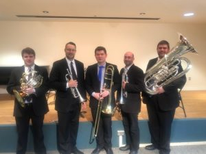 The CCO Brass Quintet (Chris Coletti & Frank Campos, trumpets; Jonathan Dozois, horn; Ben Dettelback, trombone; David Earll, tuba)