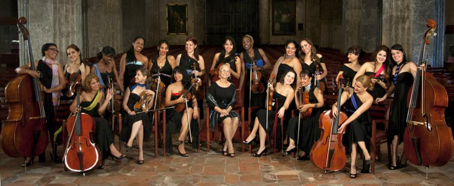 Camerata Romeu, with conductor & founder, Zenaida Romeu