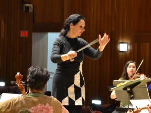 Cornelia Laemmli Orth conducts the Cayuga Chamber Orchestra