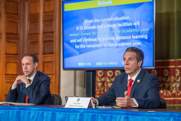 Gov. Andrew Cuomo provides a COVID-19 briefing and is joined by Health Commissioner Howard Zucker.