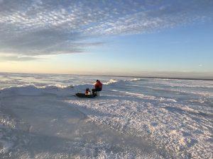 115 ICE FISHING AT DUSK ON ONEIDA LAKELES CORDONE Oneida County