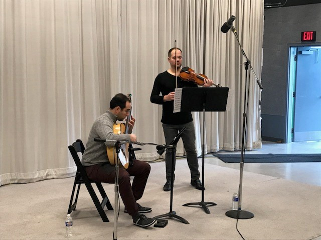 Duo Sonidos live in the WCNY Studios
