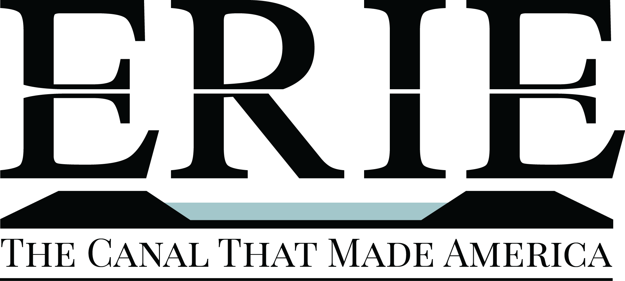 Erie Canal Logo Black