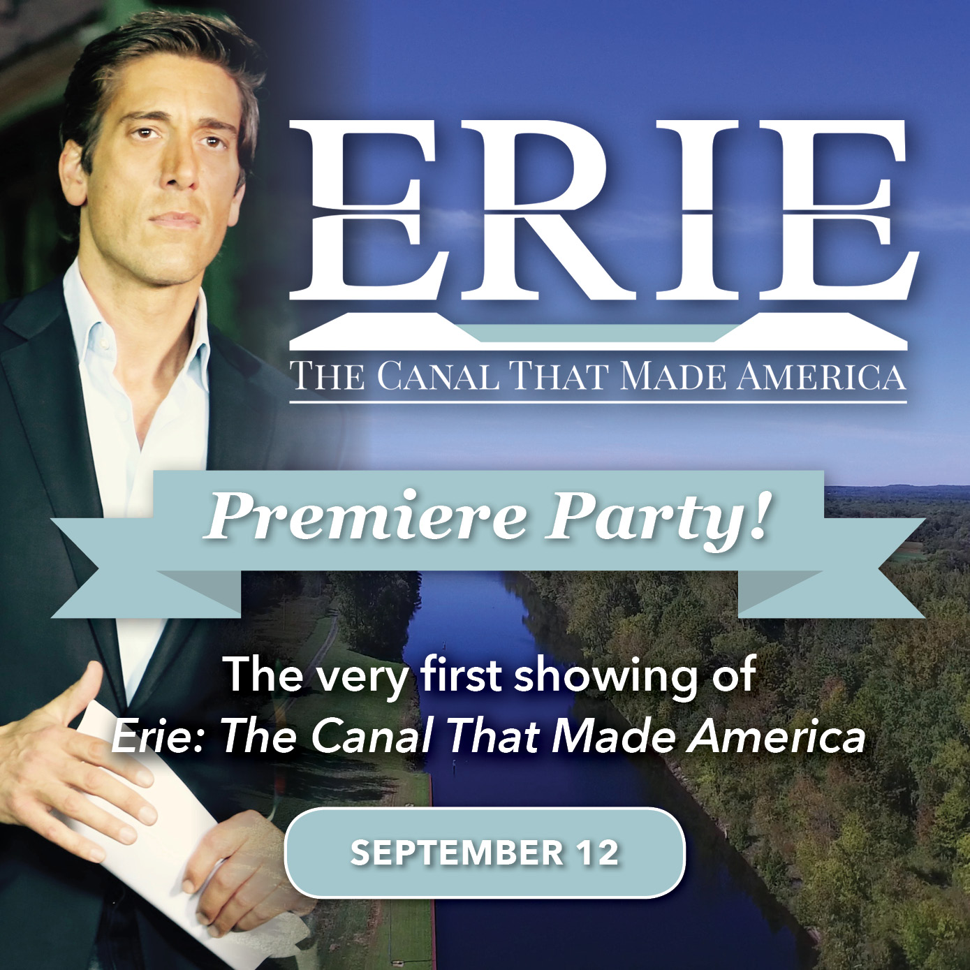 Erie Canal Premiere party event square DM