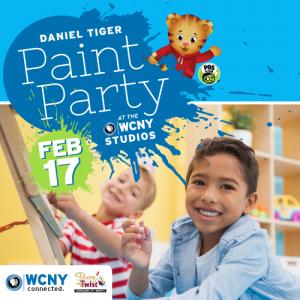 Daniel Tiger Paint Party.