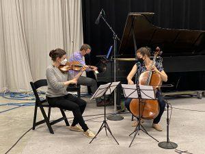 Emily Bruskin, violin; Aaron Wunsch, piano; Julia Bruskin, cello