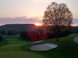 74Sunrise behind the 18thPaul Ares Onondaga County