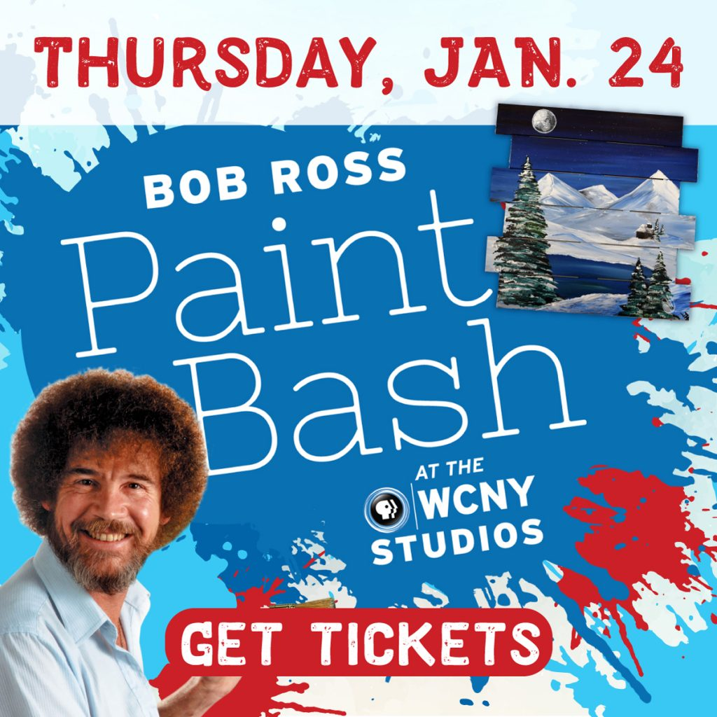 Bob Ross Paint Bash at WCNY Jan. 24. Get tickets!