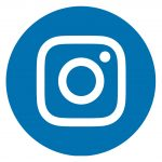 Instagram Icon Blue Circle