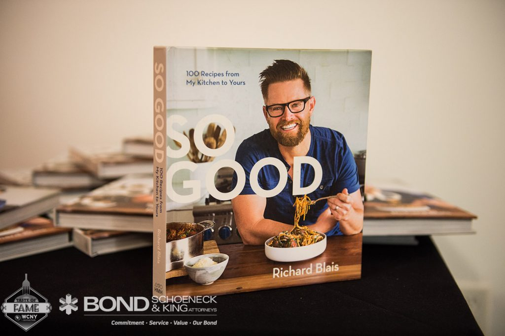 "WCNY Taste of Fame 2017 Chef Richard Blais Cookbook ""So Good"""