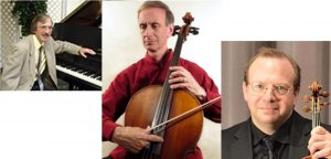 The Jewell Trio: Sar-Shalom Strong, piano, Gregory Wood, cello, & Peter Rovit, violin