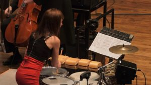 Percussionist Lisa Pegher