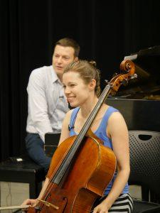 Cellist Julia Bruskin & Pianist Aaron Wunsch, artistic directors of the Skaneateles Festival