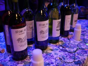 WCNY Scenes of the Region. Wine samples in the event.