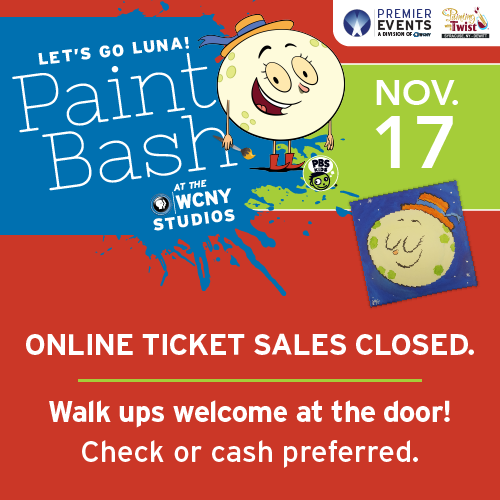Let's Go Luna! Paint Bash ticket sales are now closed. Walk ups welcome at the door!