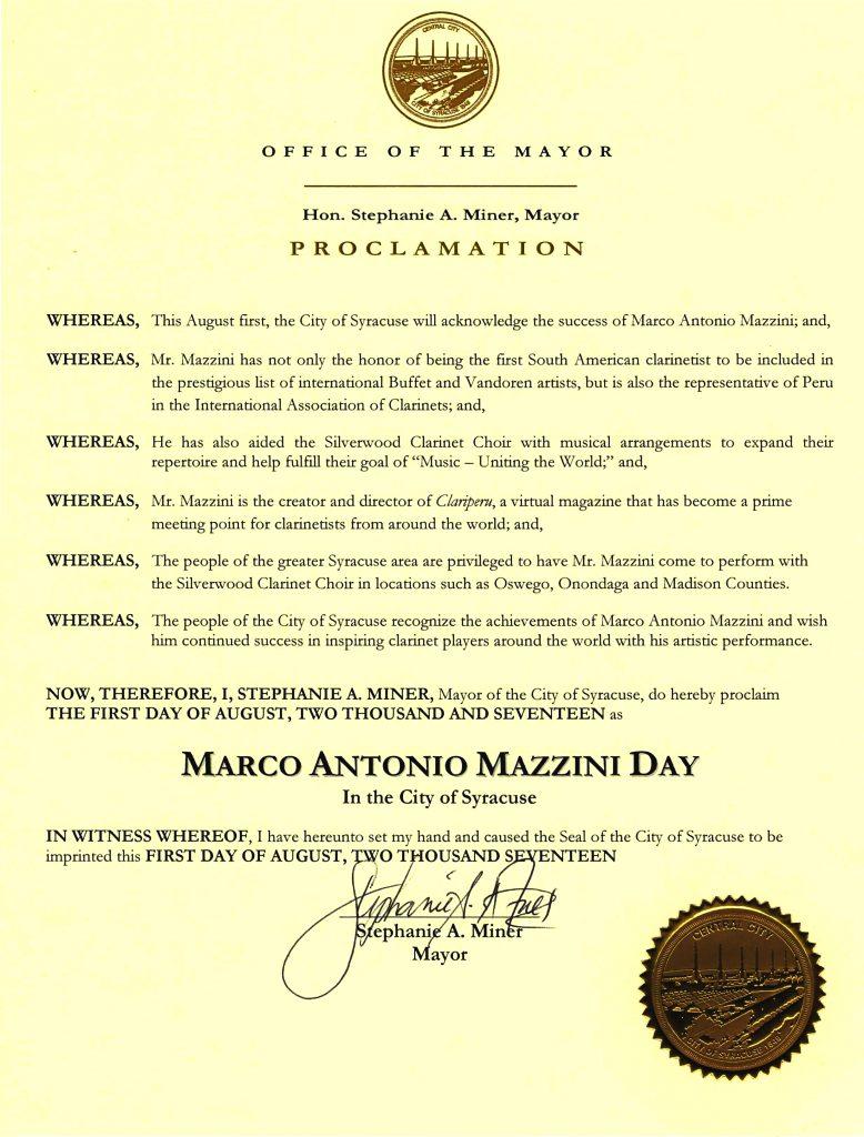 Proclamation Mazzini