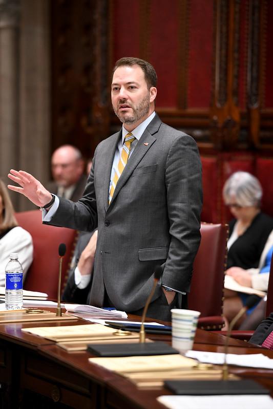 Sen. Robert Ortt speaks on the floor of the Senate.
