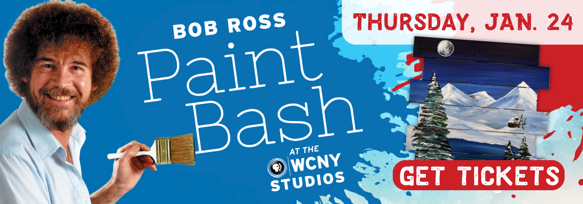 Get tickets to the Bob Ross Paint Bash Jan. 24 at WCNY!
