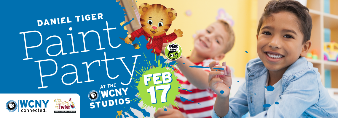 Daniel Tiger Paint Party at WCNY