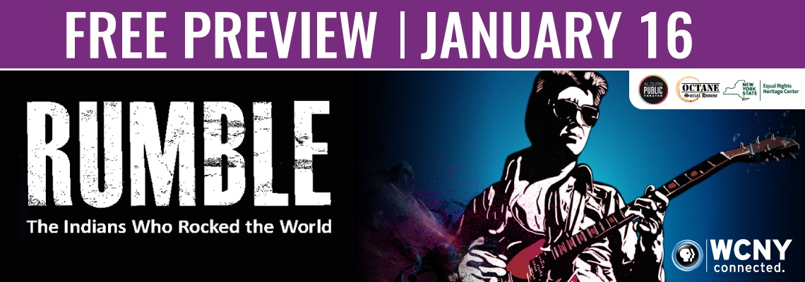 Rumble: The Indians That Rocked the World January 16, 2019 from 5–7 p.m.