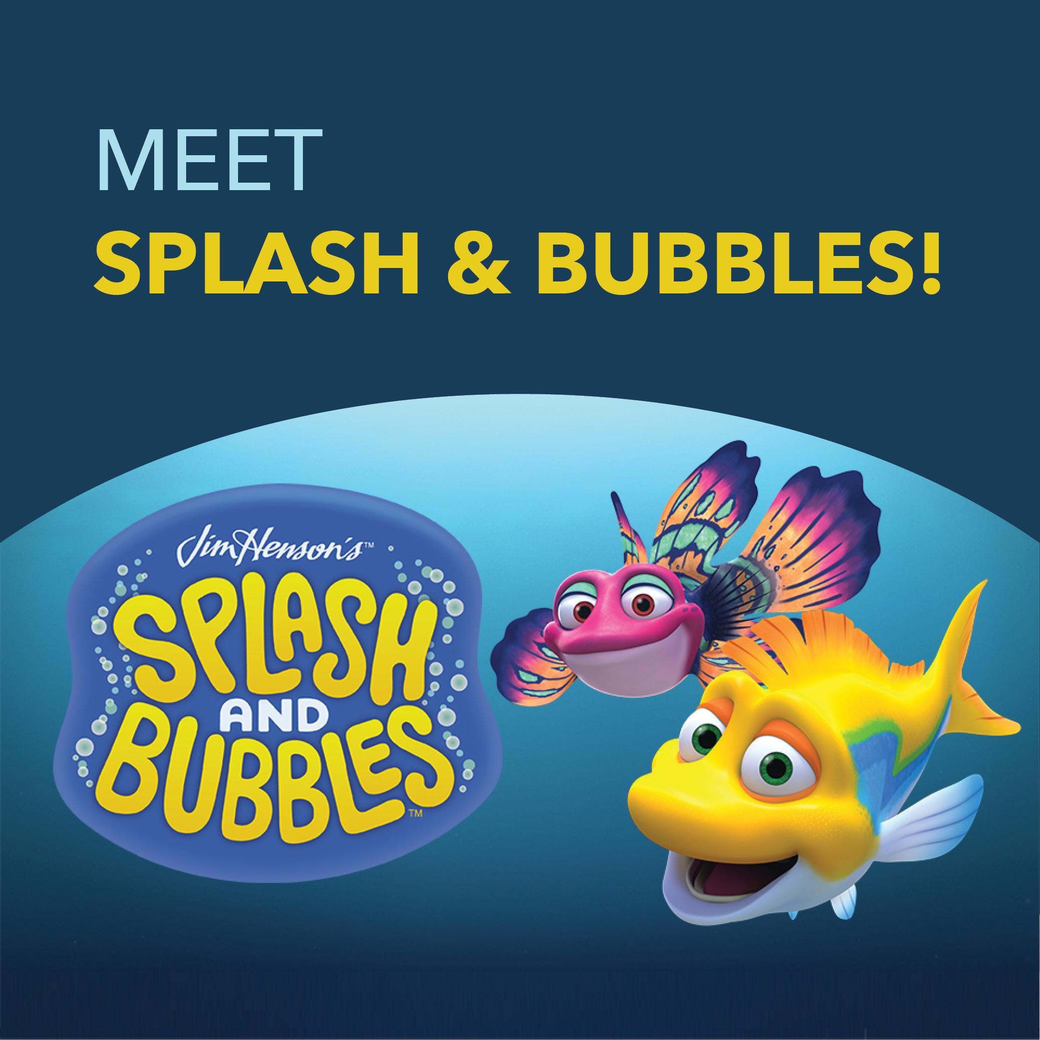Splash and bubbles event square
