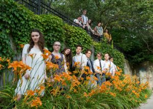 The cast of Spring Awakening, with the Syracuse Summer Theatre