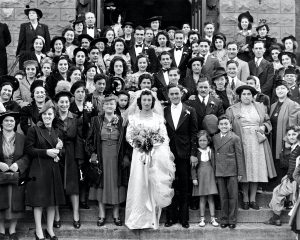 27A Big Italian WeddingLynn DavisOnondaga CountyThe wedding of Josephine Rose Sophia to Joseph James Stagnitta on October 5, 1940 at Our Lady of Pompei Church in Syracuse, NY. The parents of both the bride and groom immigrated from Sicily to Onondaga County in the early 1900's.