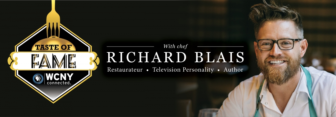 WCNY's Annual Fundraising Dinner Event featuring delicious food, stories, and fun with Chef Richard Blais!