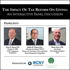 The Impact of Tax Reform on Giving: An Interactive Panel Discussion at WCNY