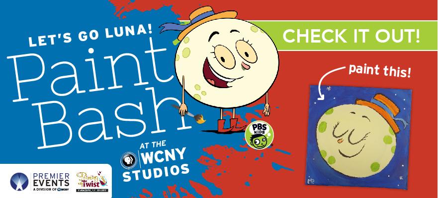 Let's Go Luna Paint Bash at the WCNY Studios