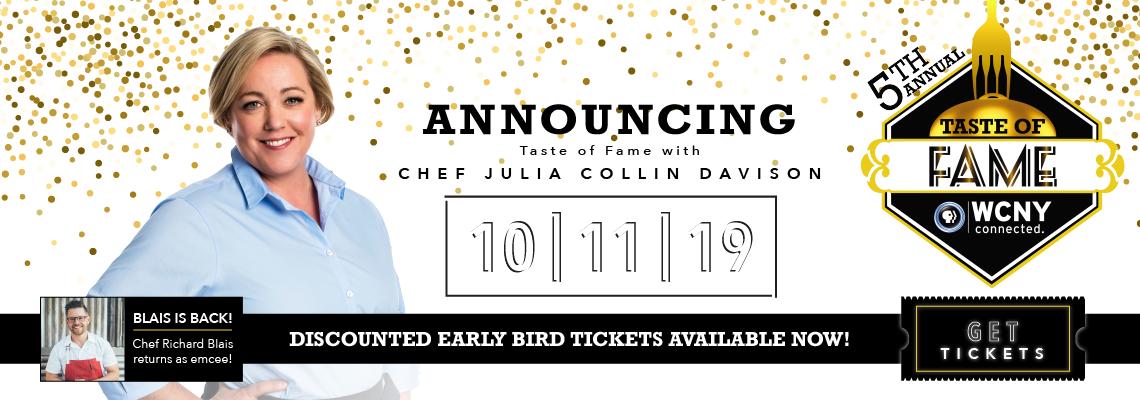 Taste of Fame with Chefs Julia Colin Davison and Richard Blais | October 11 | Syracuse