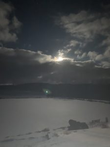18Moon over ice pond Mike McGinnBroome County