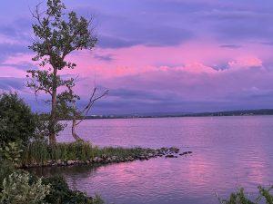 20Peaceful blue and pink sunset Sandra Mueller Onondaga County