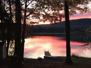 107 Sunset on Song LakeEvangeline Walters Onondaga County
