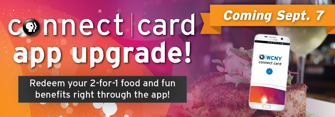 Connect Card App upgrade Slider coming