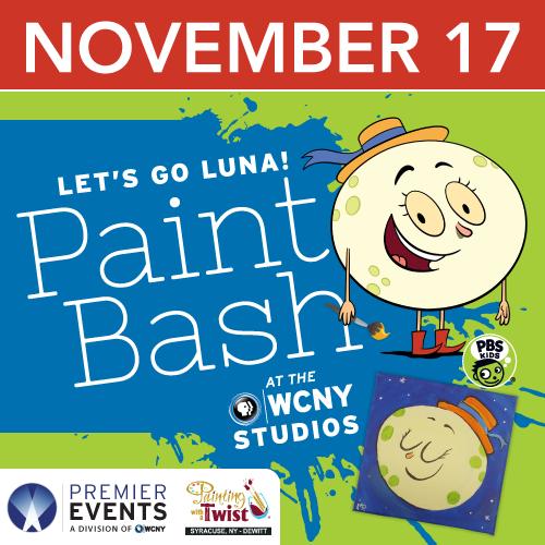 Let's Go Luna paint bash Nov. 17 at WCNY!