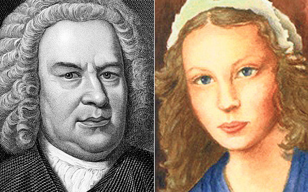 Johann Sebastian Bach & his second wife, Anna Magdalena Bach
