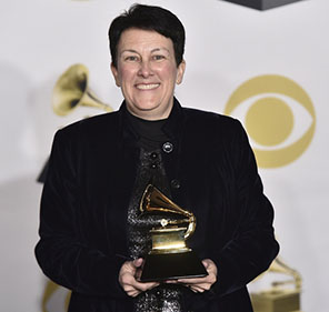 Jennifer Higdon, with her 2018 Grammy for Best Contemporary Classical Composition