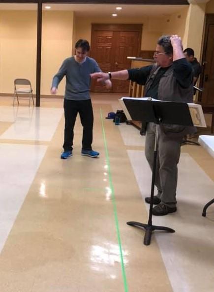 """Maestro Christian Capocaccia & director Robert Swedberg, in rehearsal for Mozart's """"Cosi fan tutte"""""""