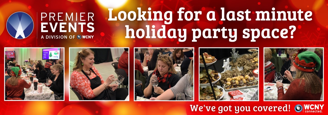 Looking for a last minute holiday party space? WCNY has you covered! Contact us today to book a space.