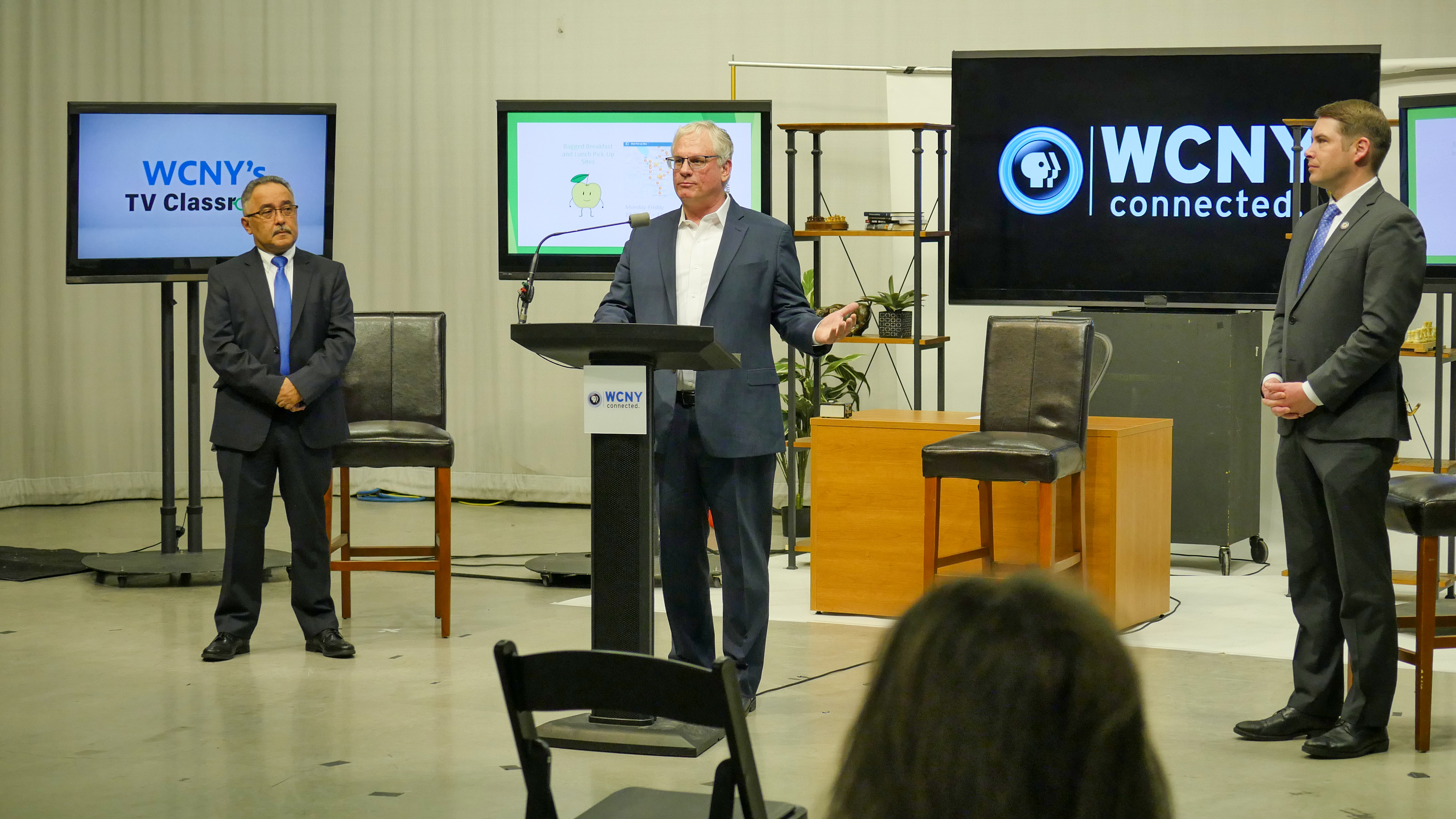 WCNY'sTVClassroom_From left - Alicea, Gelman, Walsh