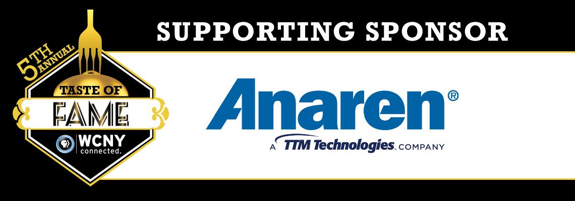 Taste of Fame 2019 sponsor Anaren
